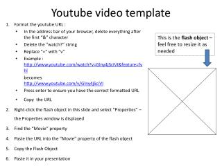 Youtube video template