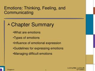 Emotions: Thinking, Feeling, and Communicating