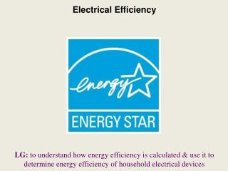 Electrical Efficiency