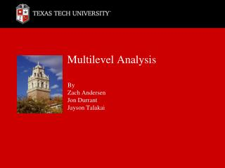 Multilevel Analysis