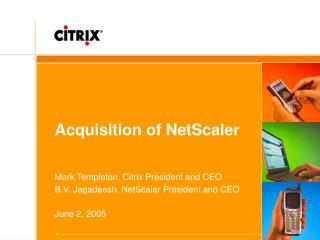 Acquisition of NetScaler