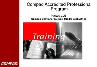 Compaq Accredited Professional Program