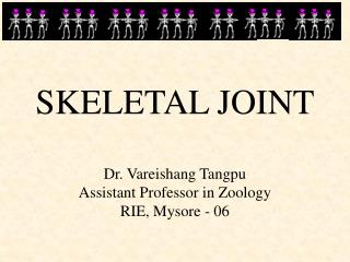 SKELETAL JOINT Dr. Vareishang Tangpu Assistant Professor in Zoology RIE, Mysore - 06