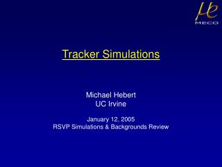 Tracker Simulations