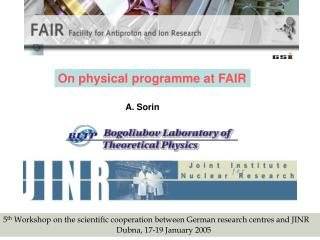 On physical programme at FAIR