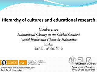 Department of Education Research Prof. Dr. Solvejg Jobst