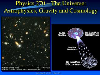 Physics 270 – The Universe: Astrophysics, Gravity and Cosmology
