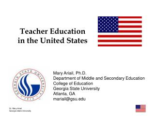 Teacher Education in the United States