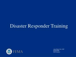Disaster Responder Training