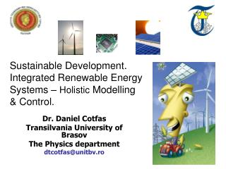 Dr. Daniel Cotfas Transilvania University of  Brasov The Physics department dtcotfas@unitbv.ro
