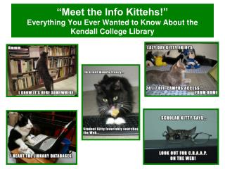 """Meet the Info Kittehs!""  Everything You Ever Wanted to Know About the Kendall College Library"