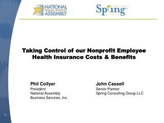 Taking Control of our Nonprofit Employee Health Insurance Costs & Benefits