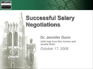 Successful Salary Negotiations
