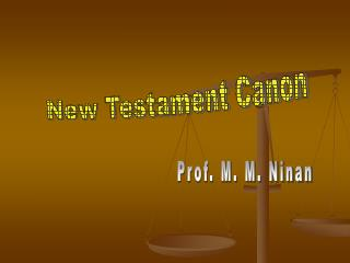 New Testament Canon