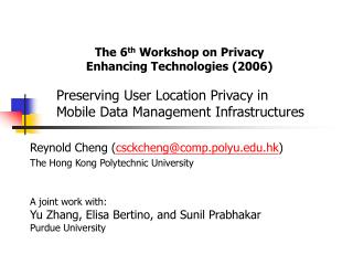 Preserving User Location Privacy in  Mobile Data Management Infrastructures