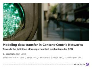 Modeling data transfer in Content-Centric Networks