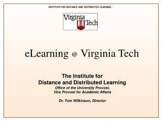 eLearning  @  Virginia Tech