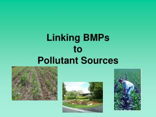 Linking BMPs  to  Pollutant Sources