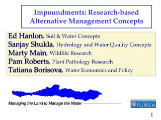 Impoundments: Research-based Alternative Management Concepts