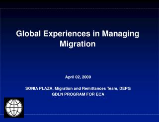 Global Experiences in Managing Migration