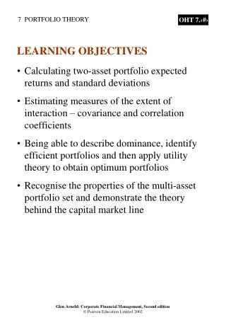Calculating two-asset portfolio expected returns and standard deviations