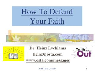 How To Defend Your Faith
