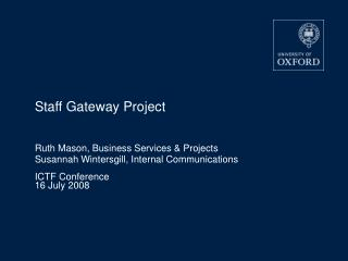 Staff Gateway Project