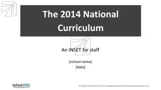 The 2014 National Curriculum