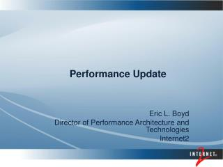 Performance Update