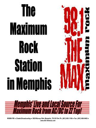 The  Maximum  Rock  Station  in Memphis