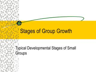 Stages of Group Growth