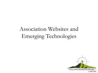 Association Websites and Emerging Technologies
