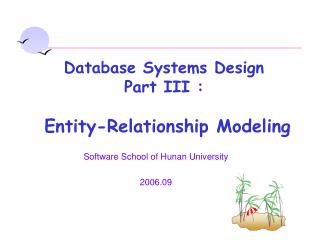 Software School of Hunan University 2006.09