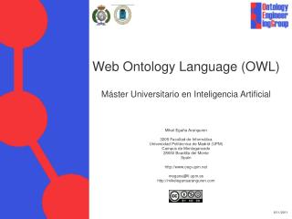 Web Ontology Language (OWL) Máster Universitario en Inteligencia Artificial