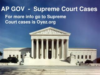 AP GOV  -  Supreme Court Cases