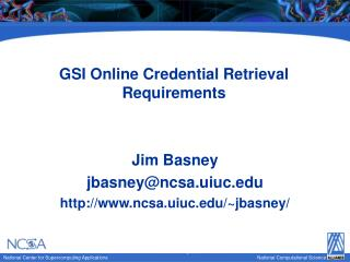 GSI Online Credential Retrieval Requirements