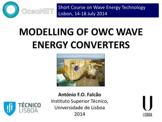 MODELLING OF OWC WAVE ENERGY CONVERTERS