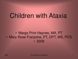 Children with Ataxia
