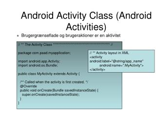 Android Activity Class (Android Activities)