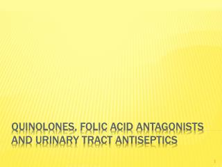Quinolones , folic acid antagonists and urinary tract antiseptics