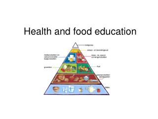 Health and food education
