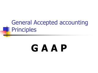 General Accepted accounting Principles