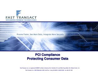 PCI Compliance Protecting Consumer Data