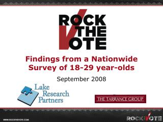 Findings from a Nationwide Survey of 18-29 year-olds