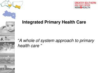 Integrated Primary Health Care