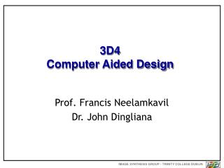 3D4 Computer Aided Design
