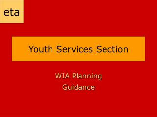 Youth Services Section