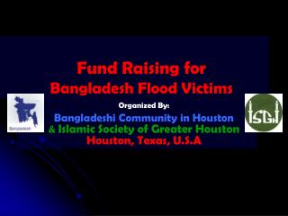 Fund Raising for Bangladesh Flood Victims