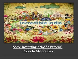 Maharashtra Forts and Travel Destinations Guide