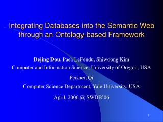 Integrating Databases into the Semantic Web through an Ontology-based Framework